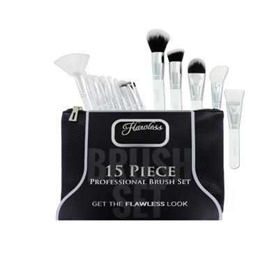 FLAWLESS 15 PCE BRUSH SET
