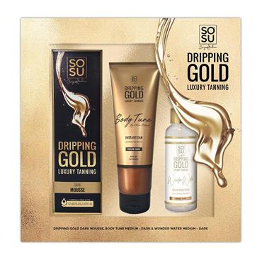 DRIPPING GOLD LUXURY TANNING SET