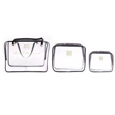 DRIPPING GOLD 'LIFE IS BETTER TANNED' TRAVEL BAG TRIO