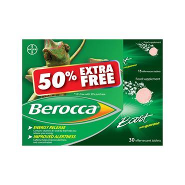 BEROCCA BOOST 50% EXTRA FREE 45's