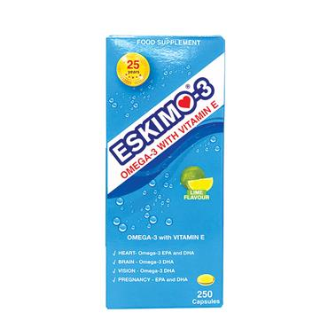 OMEGA 3 WITH VITAMIN E 250 CAPSULES