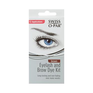 SWISS O PAR EYELASH & BROW DYE KIT BROWN