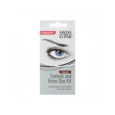 SWISS O-PAR EYELASH+BROW DYE BROWN
