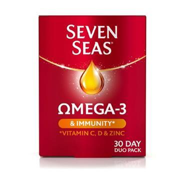 SEVEN SEAS OMEGA-3 & IMMUNITY 30S