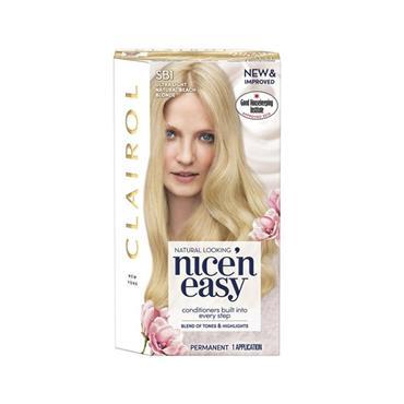 NICE N EASY PERMANENT HAIR DYE SB1 ULTRA LIGHT NEUTRAL BLEACH BLONDE