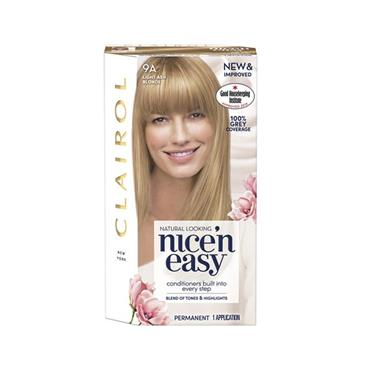 NICE N EASY PERMANENT HAIR DYE 9A LIGHT ASH BLONDE