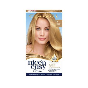 NICE N EASY PERMANENT CREME HAIR DYE 8 MEDIUM BROWN