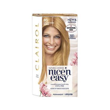 NICE N EASY PERMANENT HAIR DUE 8G MEDIUM HONEY BLONDE