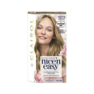 NICE N EASY PERMANENT HAIR DYE 8A MEDIUM ASH BLONDE