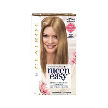 NICE N EASY PERMANENT HAIR DYE 7 DARK BLONDE