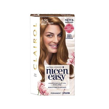 NICE N EASY PERMANENT HAIR DYE 6.5G LIGHTEST GOLDEN BROWN