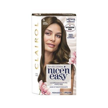 NICE N EASY PERMANENT HAIR DYE 6 LIGHT BROWN