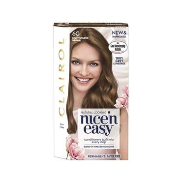 NICE N EASY PERMANENT HAIR DYE 6G LIGHT GOLDEN BROWN