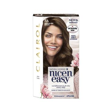 NICE N EASY HAIR DYE 5A MEDIUM ASH BROWN