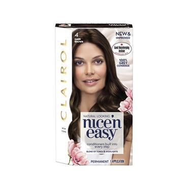 NICE N EASY PERMANENT HAIR DYE 4 DARK BROWN