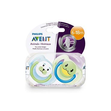 AVENT SOOTHERS ANIMAL 6-18M X2