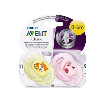 AVENT CLASSIC SOOTHER TWIN PACK 0-6M