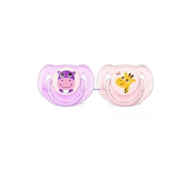 AVENT CLASSIC SOOTHER 6-18 (HIPPO/GIRAFFE) X2