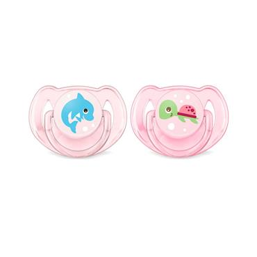 AVENT CLASSIC 6-18M SOOTHER DUO PACK - PINK