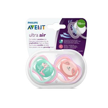 AVENT ULTRA AIR 18M+ BABY SOOTHER - TWIN PACK