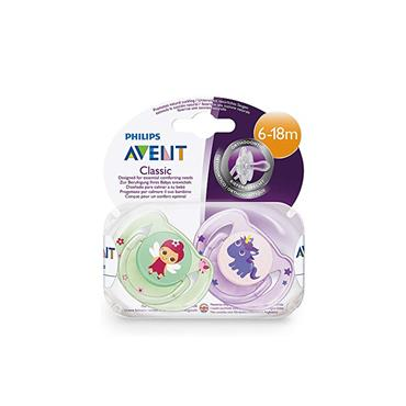AVENT CLASSIC 6-18M SOOTHERS X2 FAIRY AND UNICORN