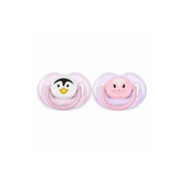 AVENT CLASSIC 0-6M SOOTHER DUO PACK - PINK & PURPLE