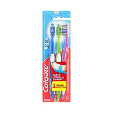 EXTRA CLEAN 3 PACK TOOTHBRUSHES