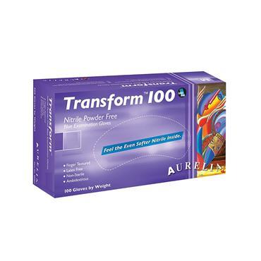 TRANSFORM 100 NITRILE POWDER FREE BLUE EXAMINATION GLOVES XL