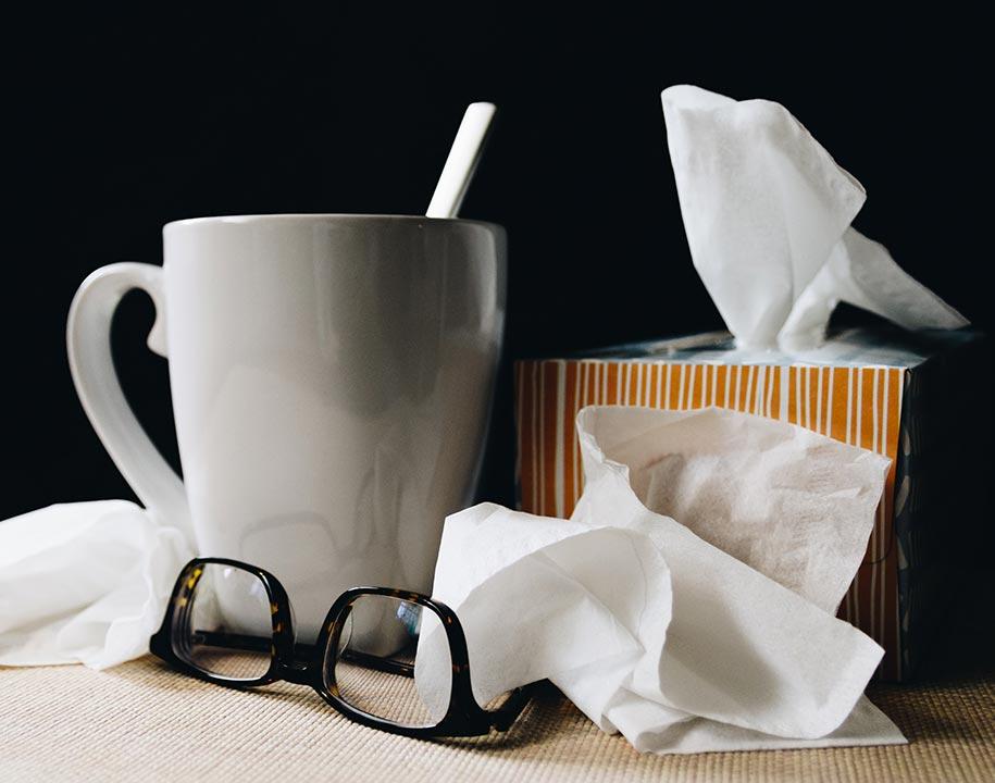 Tissues, tea, and medicine