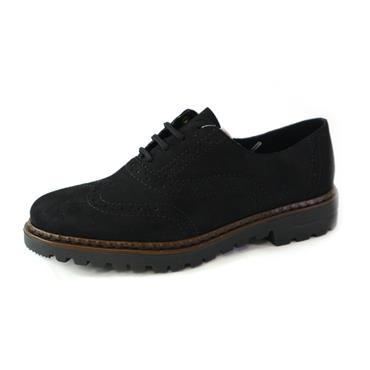 40 RIEKER BLACK BROGUE - Size 38 - BLACK