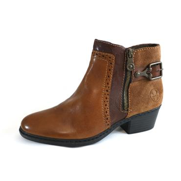 63 RIEKER TAN BOOT WITH BUCKLE - SIZE 36 - BROWN