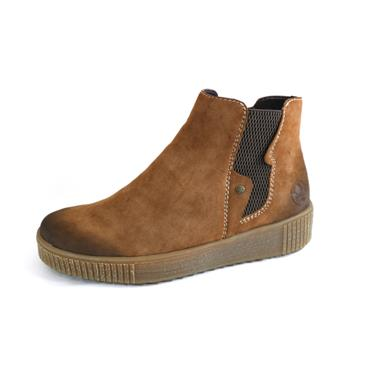 55 RIEKER TAN THICK SOLE BOOT -  SIZE 36 - BROWN