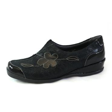 4F SUAVE SLIP ON W/ FLOWER - BLACK