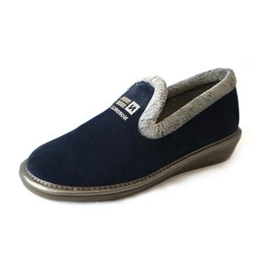 9 FULL SLIPPER SEUDE - SIZE 40 - NAVY