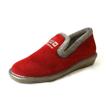 9A FULL SLIPPER SUEDE - SIZE 41 - RED