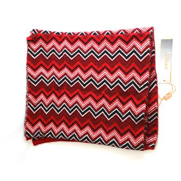 PEACH RED PATTERN SCARF - RED
