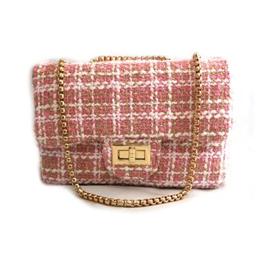 PEACH BABY PINK BAG WITH CHAIN - PINK