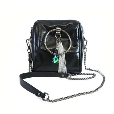 PEACH BLACK LOOP BAG - BLACK