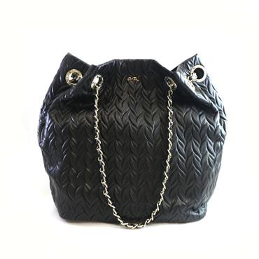 3 ARA BLACK CHAIN  BAG - BLACK