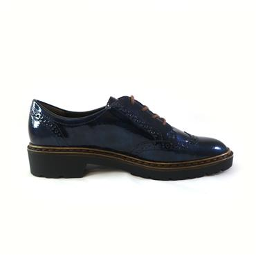 27 ARA PEACOCK LACED SHOE - NAVY
