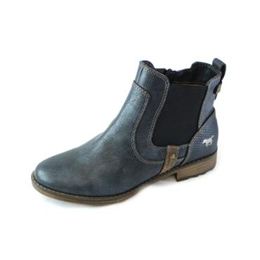 4 MUSTANG NAVY ANKLE BOOT - NAVY