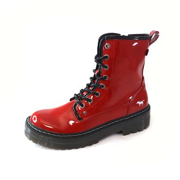 12 MUSTANG RED ANKLE BOOT - RED