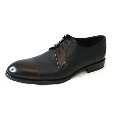 15 ROBERTO BURGUNDY BLACK FORMAL SHOE - BLACK