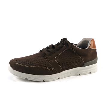 NO1 RIEKER - BROWN CASUAL LACED SHOE - BROWN