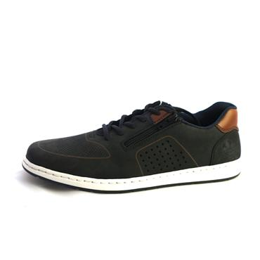No3 RIEKER - NAVY CASUAL LACED SHOE - NAVY