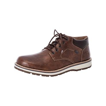 2 RIEKER GABAND LACED SHOE W/ THICK SOLE - BROWN