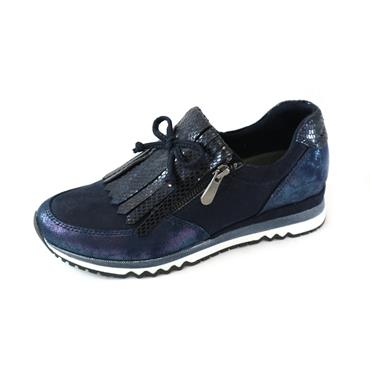 2 MARCO TOZZI LACED TRAINER W/ ZIP - NAVY