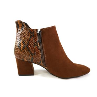 13 MARCO TOZZI SNAKE ANKLE BOOT - COGNAC