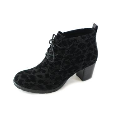 9 MARCO TOZZI LACED PRINT ANKLE BOOT - BLACK