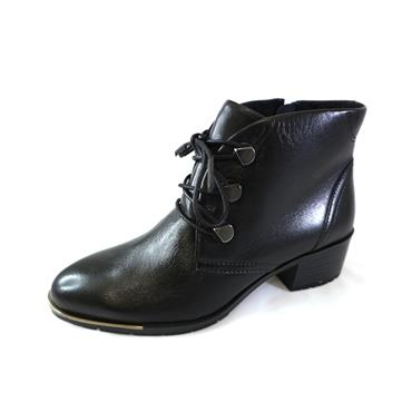 15  MARCO TOZZI LACED ANKLE BOOT - BLACK